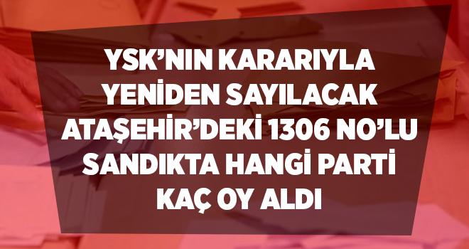 Ataşehir'de yeniden sayılacak o sandıkta hangi partiye kaç oy çıkmıştı?