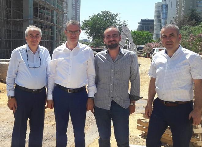 Kaymakam Ertaş, Atatürk Mahallesi'nde yapımı devam lise inşaatını inceledi