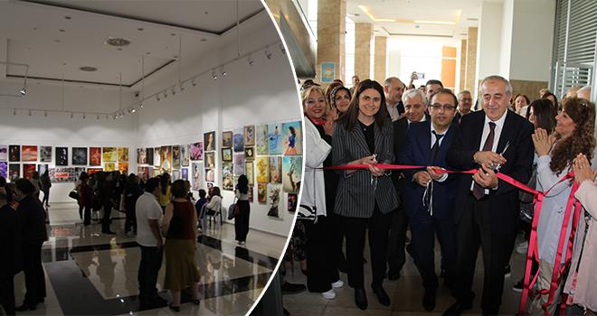 Ataşehir Halk Eğitim Kursiyerleri Karma Resim Sergisi Açıldı