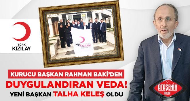 Kızılay Ataşehir'de Bir Dönem Sona Erdi! Yeni Başkan Talha Keleş Oldu