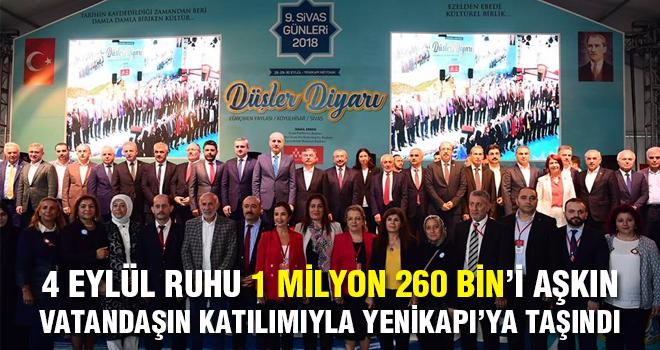 4 Eylül Sivas Ruhu Milyonların Katılımıyla Yenikapı'ya Taşındı