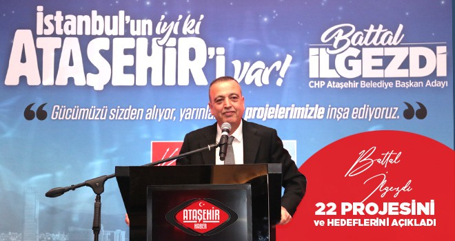 CHP'li İlgezdi, Ataşehir için projelerini ve hedeflerini açıkladı