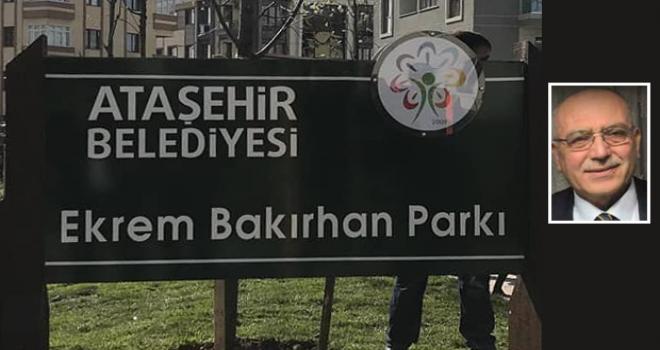 İnönü Mahallesi'nin Kurucu Muhtarı Ekrem Bakırhan Parkı Hizmete Açıldı