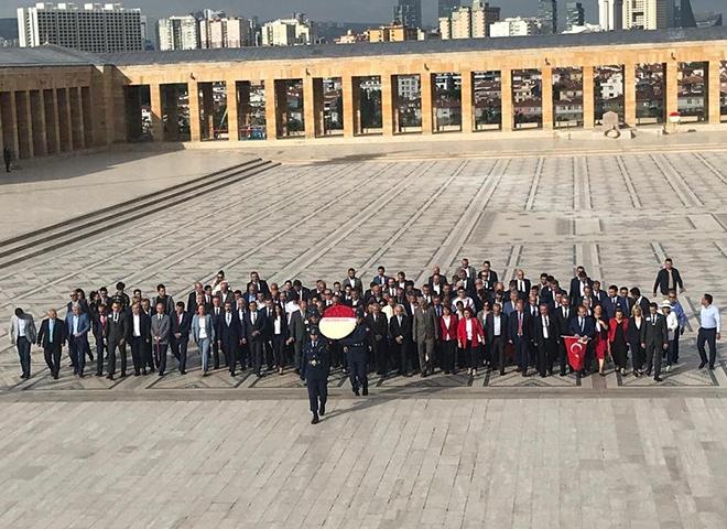 Ekrem İmamoğlu ve Meclis Üyeleri 2.Kez Anıtkabir'de