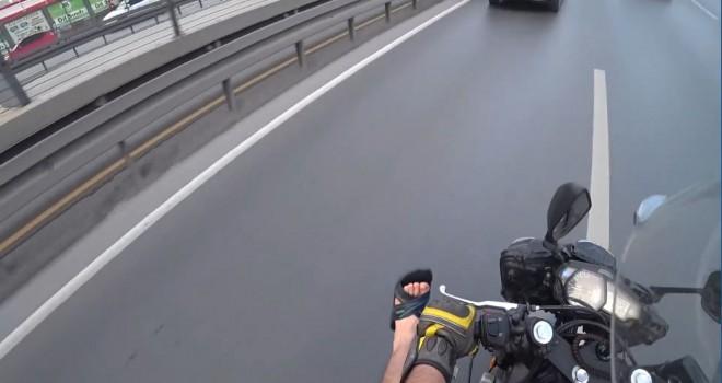 (Özel) E-5 karayolunda feci motosiklet kazası kamerada