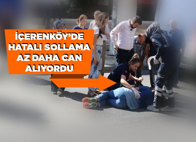 İçerenköy'de hatalı sollama az daha can alıyordu!