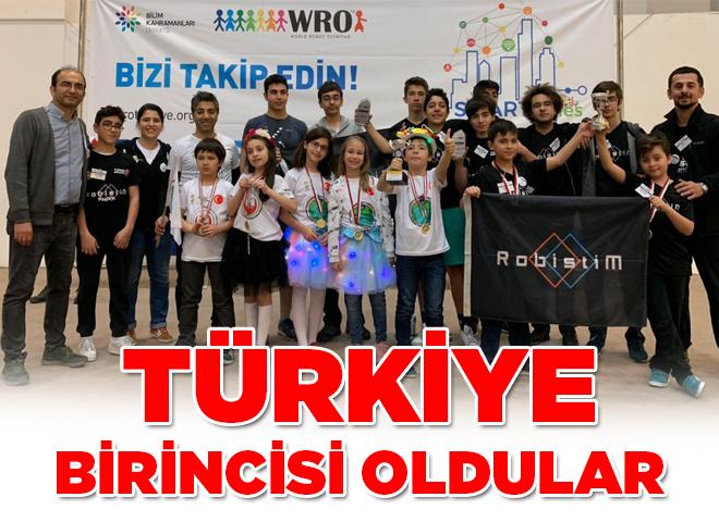 Ataşehir'deki o okul Robot Olimpiyatı'nda Türkiye 1.si oldu