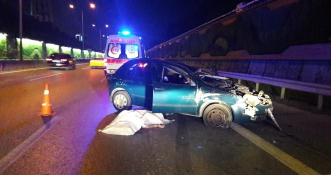 E-5'te bariyerlere çarpıp takla atan araç sürücüsü hayatını kaybetti