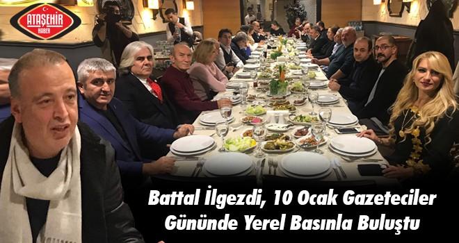 Battal İlgezdi, 10 Ocak Gazeteciler Gününde Yerel Basınla Buluştu
