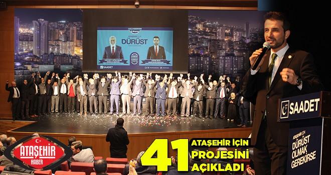 Saadet Partisi Ataşehir Belediye Başkan Adaylarını ve Meclis Üyelerini Tanıttı