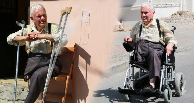 Akülü sandalye hayaline Ataşehir Belediyesi sayesinde kavuştu