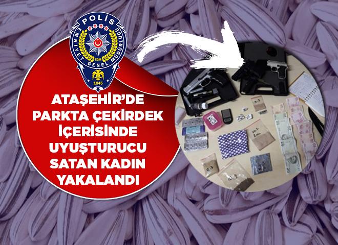 Bu kadarına pes! İçerenköy'de Parkta çekirdek poşeti içerisinde uyuşturucu satarken yakalandı...