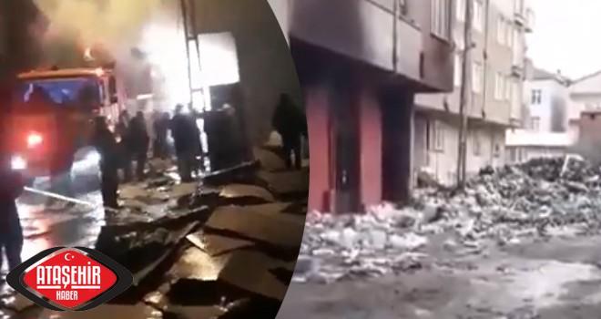 Ataşehir'de ambalaj deposunda yangın