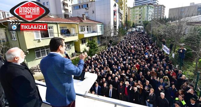 Ekrem İmamoğlu, Ataşehir'de Servisçiler ile Buluştu