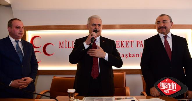 Binali Yıldırım, MHP ve AK Parti Ataşehir İlçe Başkanlıklarını Ziyaret Etti