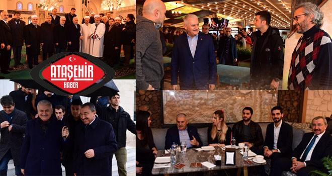 Binali Yıldırım Ataşehir'de Cuma Namazını Kıldıktan Sonra Ataşehirlilerle Buluştu