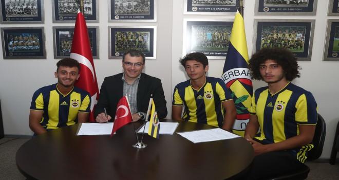 Fenerbahçe'ye altyapıdan 3 transfer