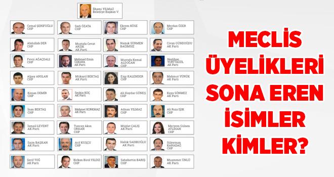 Meclis üyelikleri sona eren ve yeniden aday gösterilen isimler kimler?