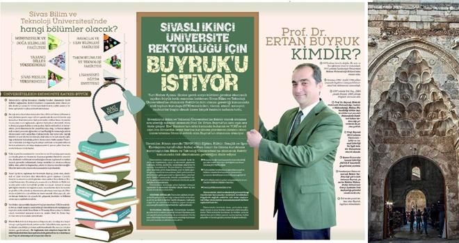 Sivaslılar 2.Üniversite'de Prof.Dr. Ertan Buyruk'u rektör olarak görmek istiyor