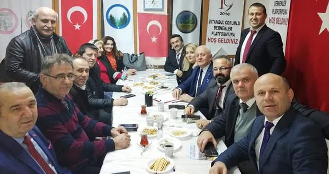 İstanbul Çorumlu Dernekler Platformu 2019 Yılı Faaliyetlerini Belirledi