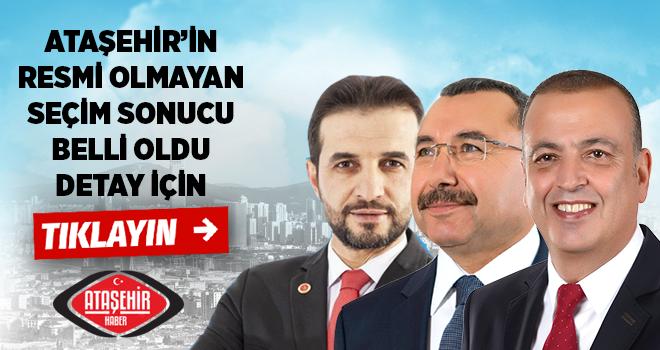 Ataşehir'in 31 Mart Belediye Başkanlık ve Meclis Üyeliği Seçim Sonuçları