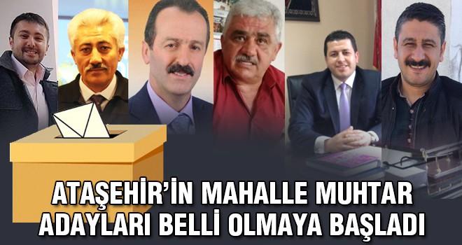 Ataşehir'in Muhtar Adayları Belli Olmaya Başladı