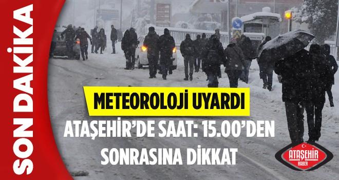 Ataşehir'de kar yağışı başladı! Peki kar yağışı kaç gün sürecek? işte ayrıntıları haberimiz