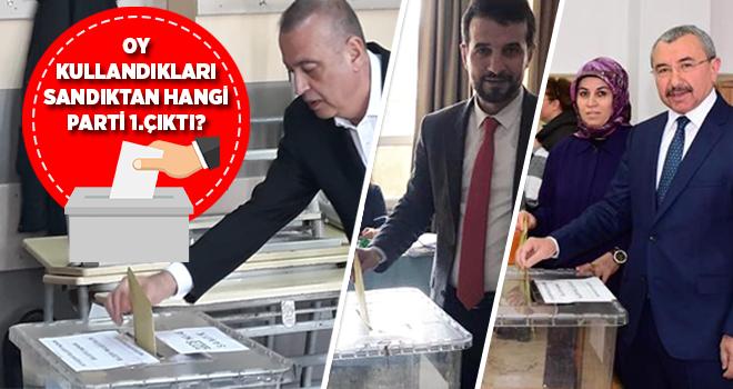 Adayların Oy Kullandıkları Sandıktan Hangi Parti Birinci Çıktı?