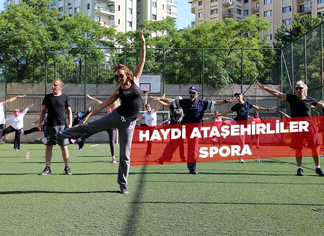 Ataşehirliler Yaz Sporunu Parklarda Yapıyor