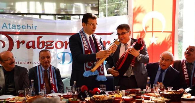 Ekrem İmamoğlu Ataşehir'de Trabzonlular Derneğini Ziyaret Etti