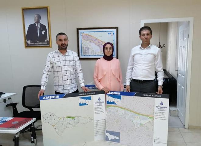 İBB Muhtarlıklar Müdürlüğü Ataşehir'in 17 Muhtarlığına İlçe ve Mahalle Haritası Dağıttı
