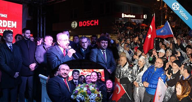 İsmail Erdem'e Ataşehir'de Çoşkulu Karşılama