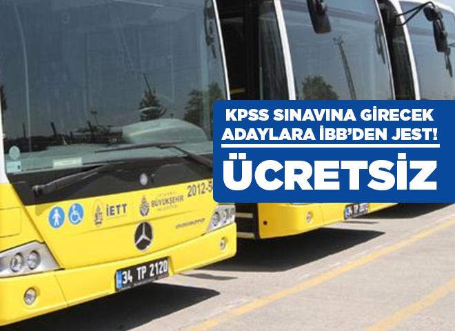 İBB'den KPSS'ye girecekler için ulaşım ücretsiz oldu!