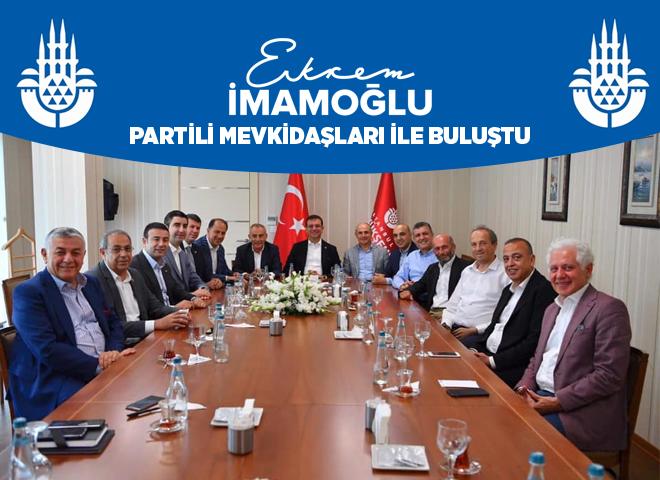Ekrem İmamoğlu, Partili mevkidaşlarıyla seçim sonrası biraraya geldi