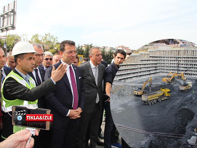 İBB Başkanı Ekrem İmamoğlu, Ataşehir'deki Metro İstasyonu İnşaat Çalışmasını İnceledi