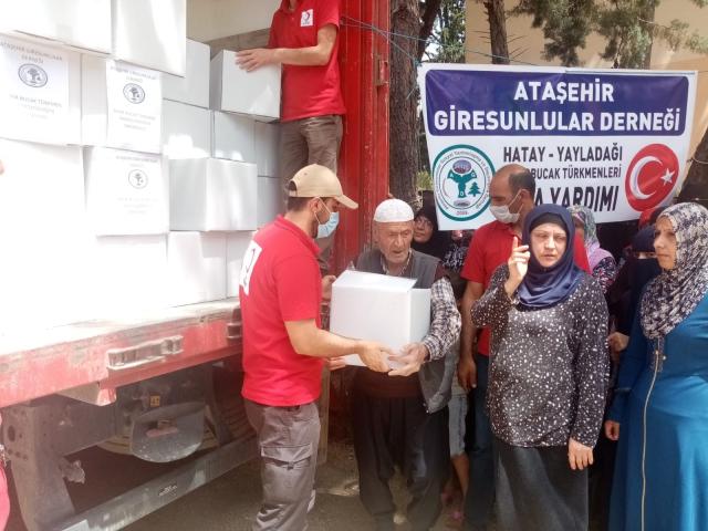 Ataşehir Giresunlular Derneği Bayır-Bucak Türkmenlerini Unutmadı