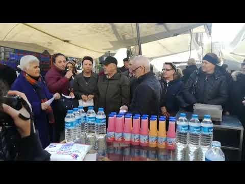 Ataşehir'de '10 Aralık Dünya İnsan Hakları' gününde basın açıklaması gerçekleştirdiler