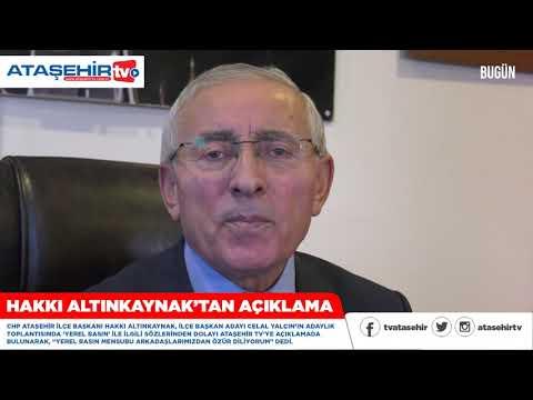 CHP Ataşehir İlçe Başkanı Hakkı Altınkaynak'tan 'Yerel Basın' açıklaması